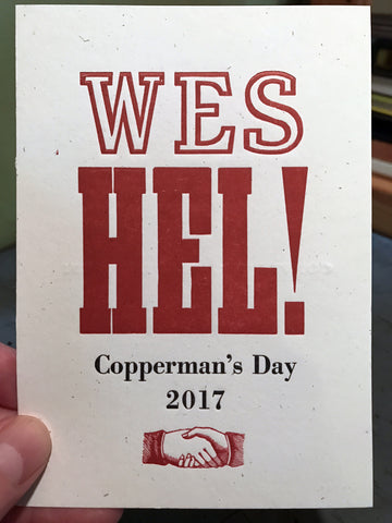 Copperman's Day 2017: Wes Hel