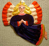 Mexican Tin Ornaments: Colorful Angel