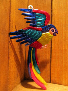 Mexican Tin Ornaments: Tropical Birds