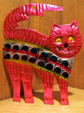 Mexican Tin Ornaments: Colorful Cats