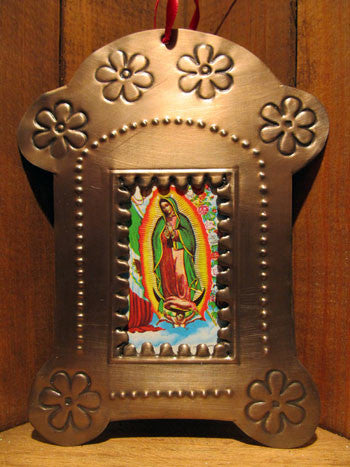 Mexican Tin Ornaments: Oxidized Nicho Frame