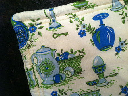 Millie's Potholders: Blue Kitchen (set of two)