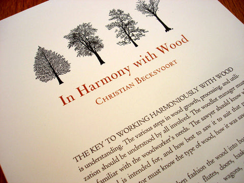 In Harmony with Wood by Christian Becksvoort
