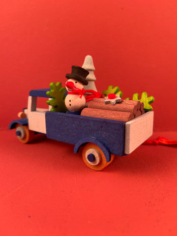 German Christmas Ornament: Christmas Trucks