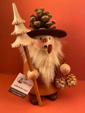 German Incense Smoker: Pinecone Man