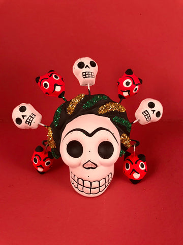 Frida Calavera with Mini Skulls & Devils