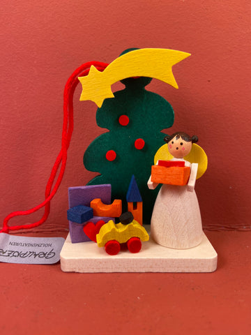German Christmas Ornament: Tree with Angel