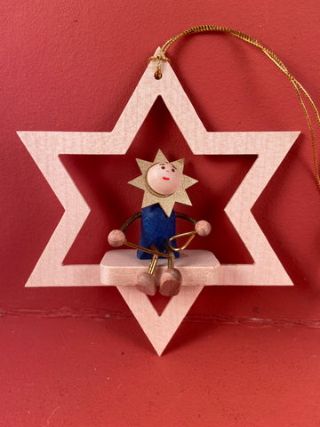 German Christmas Ornament: Star with Triangle