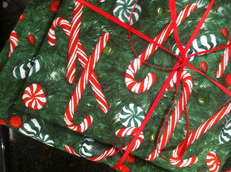 Millie's Potholders: Candy Canes (set of two)
