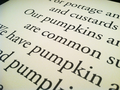The Pilgrim Pumpkin Rhyme