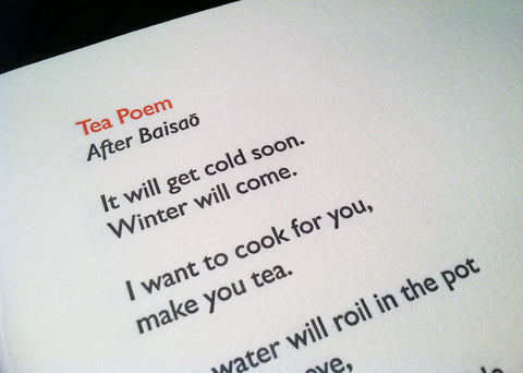 Tea Poem by Nick Vagnoni