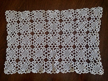 Load image into Gallery viewer, Set of 2 Vintage Venetian Crochet lace Table Runners in Ecru Colour