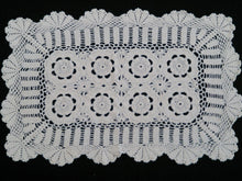Load image into Gallery viewer, Crocheted Rectangular Vintage Lace Doily or Placemat in Off White/Ivory Colour