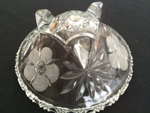 Load image into Gallery viewer, Vintage Crystal Fruit or Snack Bowl with 3 Legs