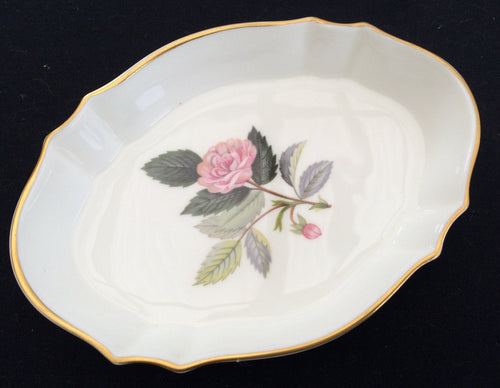 Wedgwood Hathaway Rose Small Oval Fine Bone China Ring Dish