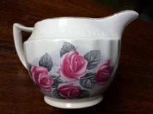 "Load image into Gallery viewer, Swinnertons Staffordshire ""Luxor Vellum"" Sauce Jug with Red Roses"