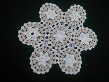 Load image into Gallery viewer, Vintage Round White and Ecru Coloured Crochete Cotton Lace Doily