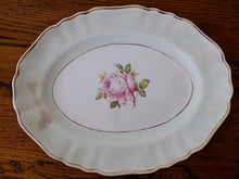 Load image into Gallery viewer, Vintage J & G Meakin (UK) Oval Serving Platter with Red Rose