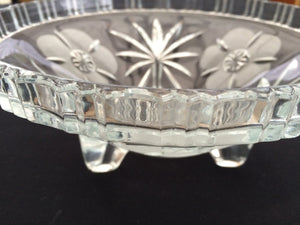 Vintage Crystal Fruit or Snack Bowl with 3 Legs