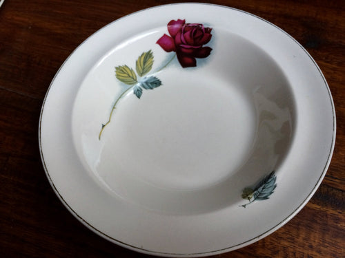 Alfred Meakin UK Cereal Bowl or Ring Dish Single Red Rose Pattern
