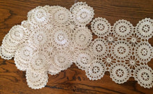 Load image into Gallery viewer, Vintage Ivory Crochet Lace Doily