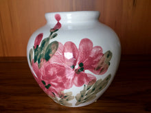 Load image into Gallery viewer, Hand Painted Vintage Ceramic Vase with Floral Design