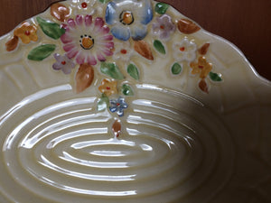 Vintage Crown Devon Garden Path Pattern Ring/Pin/Butter Dish