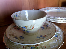 Load image into Gallery viewer, Creampetal  Florentine 2 x 3 Piece Demitasse Sets with 2 Dinner Plates