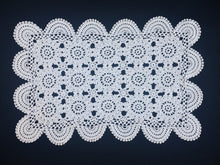 Load image into Gallery viewer, Large Vintage Crocheted White Cotton Lace Doily or Placemat