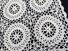 Load image into Gallery viewer, Vintage Ivory Oblong Knitted and Crocheted Cotton Lace Doily