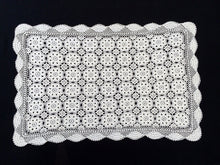 Load image into Gallery viewer, Vintage Crocheted Antique Linen White Cotton Lace Table Runner