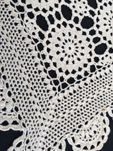 Load image into Gallery viewer, Vintage Ivory Colour Crochet Lace Table Runner