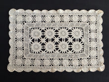 Load image into Gallery viewer, Vintage Crocheted Off White Doily/Placemat or Tray Cloth