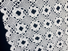 Load image into Gallery viewer, Large White Vintage Venetian Crochet Cotton Lace Doily