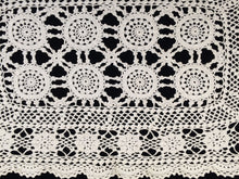 Load image into Gallery viewer, Vintage Crocheted Ivory/Beige Cotton Lace Doily or Placemat