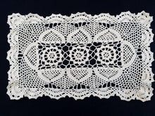 Load image into Gallery viewer, Crocheted Ivory Coloured Vintage Chunky Cotton Lace Doily, Tray Cloth or Placemat