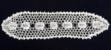 Load image into Gallery viewer, Vintage Off-White Oval Filet Crochet Sandwich Doily