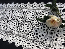 Load image into Gallery viewer, Vintage Crochet and Tape Lace Vintage Crocheted Table Runner