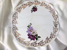 Load image into Gallery viewer, Lord Nelson Pottery England Vintage Flat Cake Plate with Dahlias
