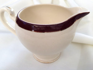 Alfred Meakin Maroon and Gold Small Vintage Pitcher/Creamer