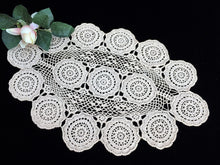 Load image into Gallery viewer, Vintage Oval Crocheted Cotton Lace Ecru/Beige Colour Doily