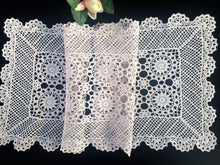 Load image into Gallery viewer, Vintage Ecru (Natural Cotton Colour) Lace Rectangular Crocheted Cotton Table Runner
