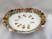 Load image into Gallery viewer, Vintage Royal Doulton Hand Painted Oval Ring Dish with Tulips