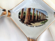 Load image into Gallery viewer, Vintage Porcelain Ash Tray. Ruins of Salamis, Famagusta, Cyprus