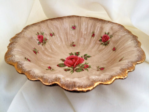 Crown Ducal Fluted Dark Ivory Snack/Fruit or Salad Bowl