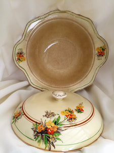 Royal Winton Vintage Ceramic Vegetable Serving Bowl with Lid