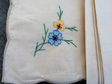 Load image into Gallery viewer, A Set of 24 Vintage Machine Embroidered Ivory Cotton Blend Party Napkins