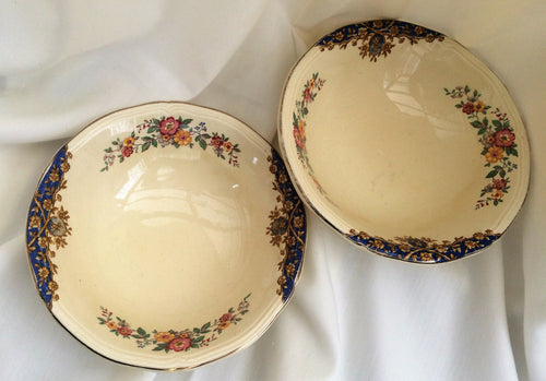 A Pair of Woods Ivory Ware (UK) Art Deco Cereal/Compote or Soup Bowls