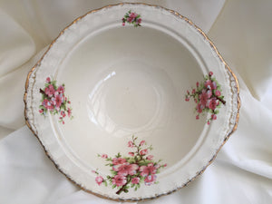 Creampetal Grindley Vegetable Serving Bowl with Peach Blossom Pattern