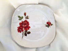 Load image into Gallery viewer, Wood & Sons Burslem Red Roses Small Ring Dish/Pin/Butter/Jam Dish